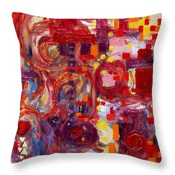 Rite Of Spring Throw Pillow by Regina Valluzzi