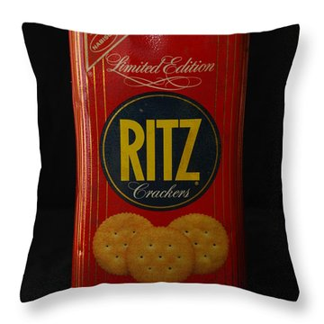 Ritz Crackers Throw Pillow