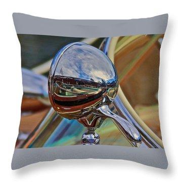 Riva Chrome Throw Pillow