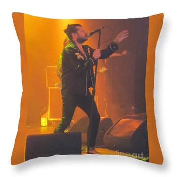 Rival Sons Jay Buchanan Throw Pillow by Jeepee Aero