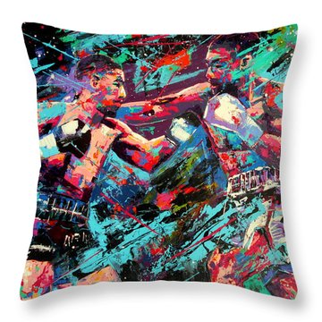Rivals- Large Work Throw Pillow