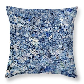 River Reflections Blue Throw Pillow