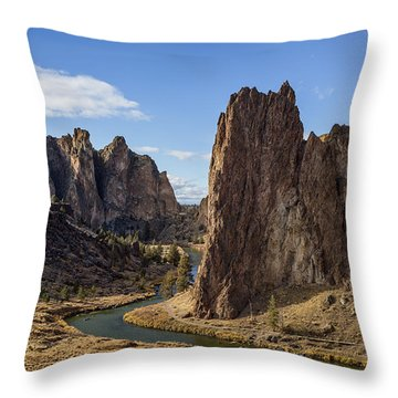 River And Rock Throw Pillow