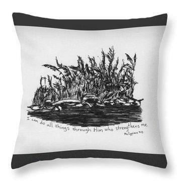 River Bank 1 Throw Pillow