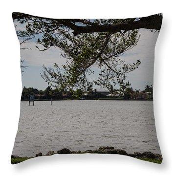 River Bank Throw Pillow by Nance Larson