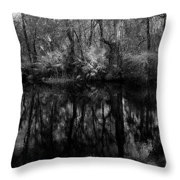 Throw Pillow featuring the photograph River Bank Palmetto by Marvin Spates