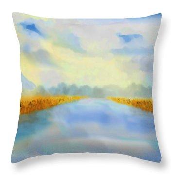 River Blue Throw Pillow