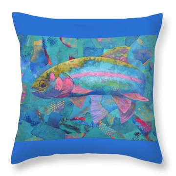 River Bow Throw Pillow by Nancy Jolley