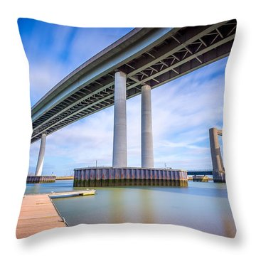 Throw Pillow featuring the photograph River Bridges by Gary Gillette
