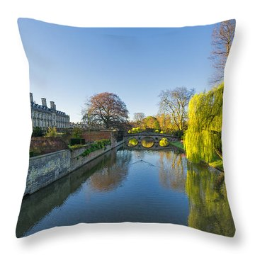 River Cam Throw Pillow