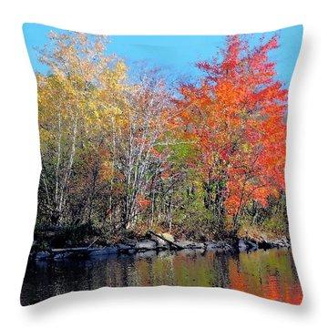 River Color Throw Pillow