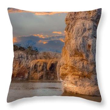 River Cruise Throw Pillow