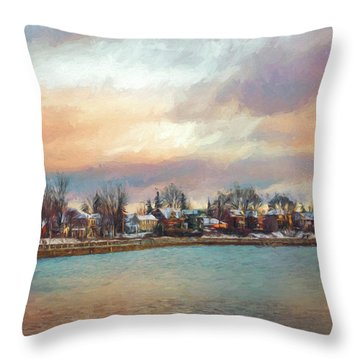 River Dream Throw Pillow