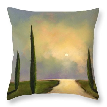 River Dreams Throw Pillow by Toni Grote
