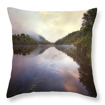 River Fire  Throw Pillow