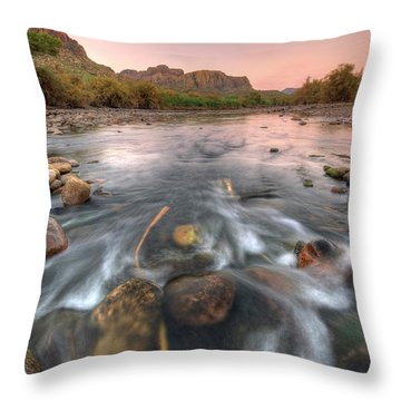 River Flow Throw Pillow