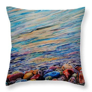 River Gems Throw Pillow by Tracy Rose Moyers