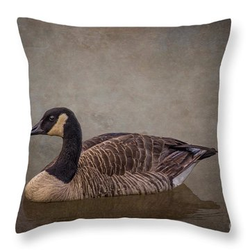 River Goose Throw Pillow