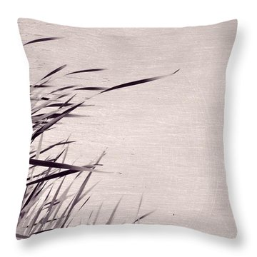 Throw Pillow featuring the photograph River Grass by Michelle Calkins