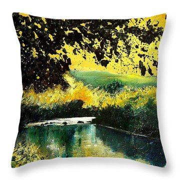 River Houille  Throw Pillow by Pol Ledent
