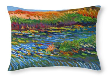 River In Bloom Throw Pillow by Vanessa Hadady BFA MA