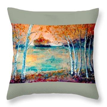 River Island Throw Pillow