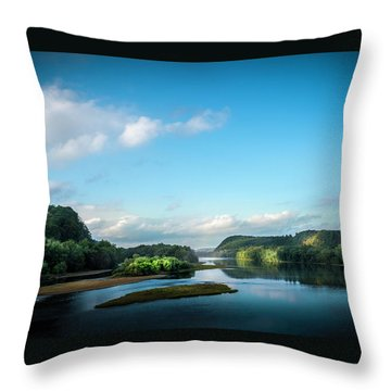 Throw Pillow featuring the photograph River Islands by Marvin Spates