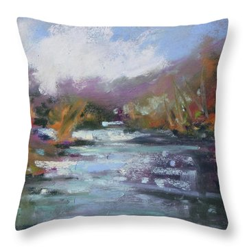 River Jewels Throw Pillow by Rae Andrews