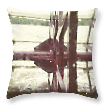 River Lady Throw Pillow by Desline Vitto