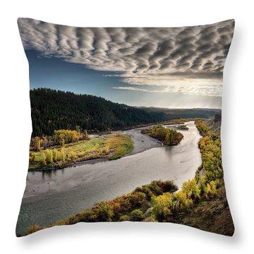 River Light Throw Pillow by Leland D Howard