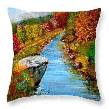 River Lousios  Throw Pillow