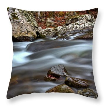 Throw Pillow featuring the photograph River Magic by Douglas Stucky