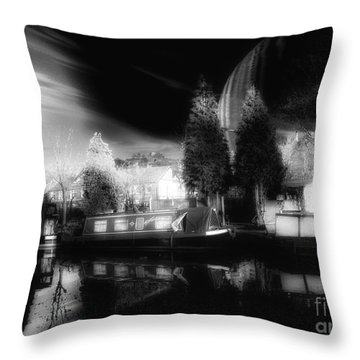 River Mooring Throw Pillow