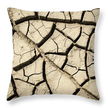 River Mud Throw Pillow
