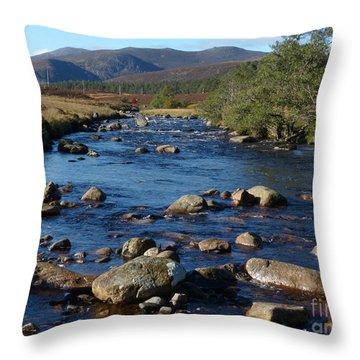 River Muick And Conachcraig Throw Pillow