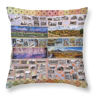 River Mural Complete Throw Pillow