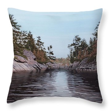 River Narrows Throw Pillow