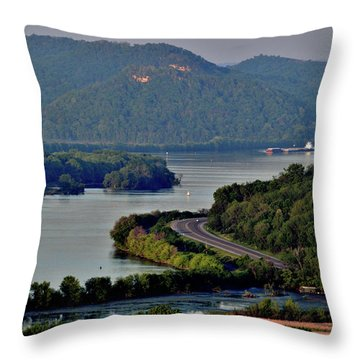 River Navigation Throw Pillow