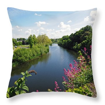 River Nore Kilkenny Ireland Throw Pillow by Cindy Murphy - NightVisions