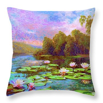 The Wonder Of Water Lilies Throw Pillow