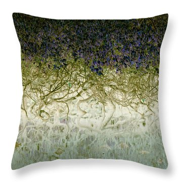 River Of Life Throw Pillow by Holly Kempe