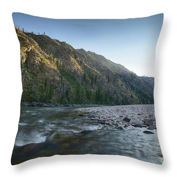 River Of No Return Throw Pillow by Idaho Scenic Images Linda Lantzy