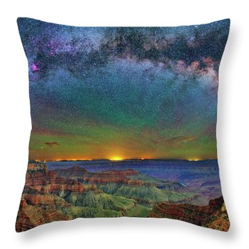 River Of Stars Throw Pillow