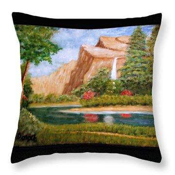 River Descending Throw Pillow