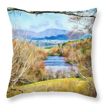 River Overlook Throw Pillow