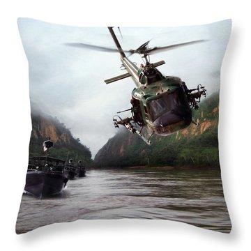 River Patrol Throw Pillow