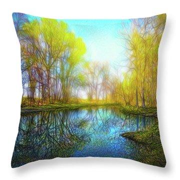 River Peace Flow Throw Pillow