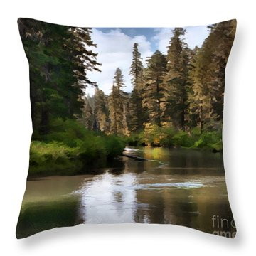 Throw Pillow featuring the painting Millers Creek Painterly by Peter Piatt