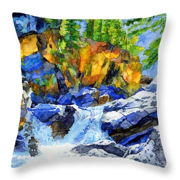 River Pool Throw Pillow