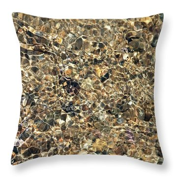 River Reflections Tan Throw Pillow